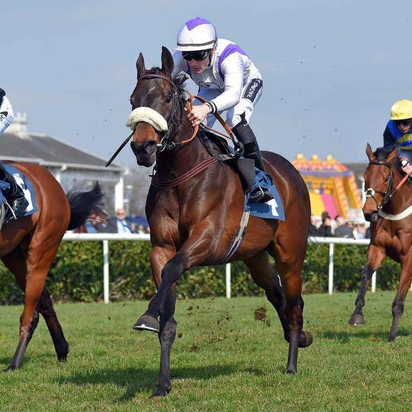 Fisher Green winning the Betfred Maiden Stakes on debut at Doncaster on the 3rd of April 2016